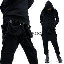 ankoROCK アンコロック パーカー セットアップ メンズ パーカー セットアップ レディース スウェット 上下 黒 ブラック