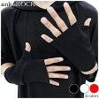 ankoROCK アンコロック 手袋 メンズ 手袋 レディース 手袋 ユニセックス フィンガーレスグローブ 指なし 手袋 黒 ブラック 無地 指ぬき 手袋