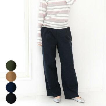 レディース ファッション 大きいサイズ 体形カバー 40代 30代 秋 冬 ワイドパンツ ストレッチ カジュアル ゆったり シンプル ウエストゴム