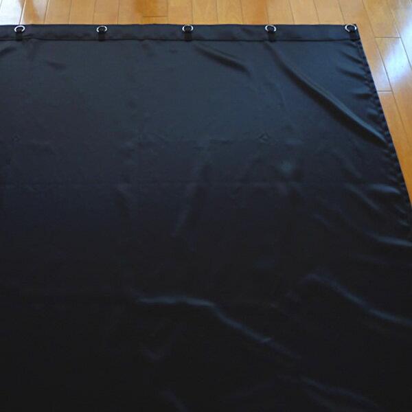 【レンタル】サテン地暗幕RS-1 暗幕レンタル 幅450cm×丈300cm(リング付き暗幕)遮光カーテン 黒カーテン レンタル 遮光スエード【fy16REN07】【02P03Dec16】