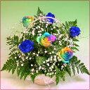 誕生日 レインボーローズ 夢のバラのアレンジ 結婚祝い 結婚記念日 ホワイトデー
