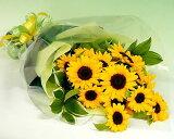 【季節のお花・花束】大輪ひまわり20本の花束