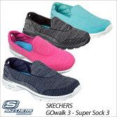 【スマホエントリーでP10倍★3/25(土)10:00〜4/1(土)9:59】 ○16SS スケッチャーズ ウィメンズ GOwalk 3-Super Sock 3 レディースシューズ スリッポン スニーカー 14046