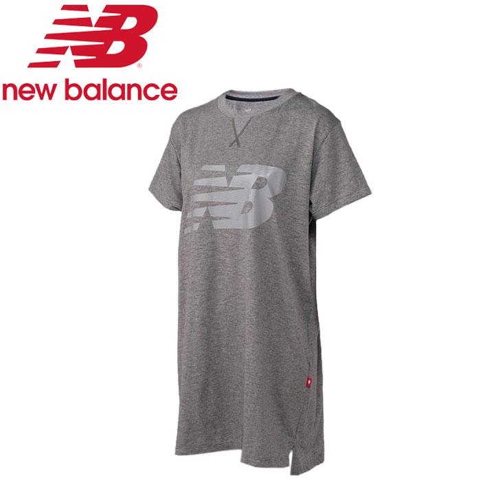 ★クリアランス! ★17SS New Balance(ニューバランス) ロングショートスリーブT JWTL7219-HGR レディース