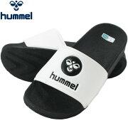 ★17SShummel(ヒュンメル)シャワーサンダルメンズレディースHAS4021-1090ホワイト/ブラック