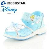 【クリアランスセール】 ムーンスター ディズニー プリンセス DN C1251 サックス 12181209 キッズサンダル 子供靴