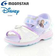ムーンスターディズニーアナと雪の女王DNC1256パープル12181321【ディズニー「アナと雪の女王」のキッズサンダル子供靴】