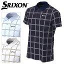 【クリアランスセール】 スリクソン COOLISTクロスストライププリントシャツ メンズ 春夏 ゴルフウェア RGMPJA02