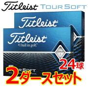 【2ダースセット】タイトリストゴルフツアーソフトゴルフボール2ダース(24球)2020年モデル