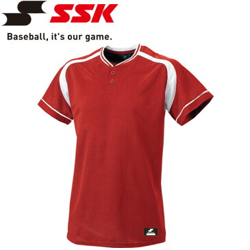 【ゆうパケット配送】エスエスケイ SSK 野球 2ボタンプレゲームシャツ メンズ・ユニセックス BW2200-2010
