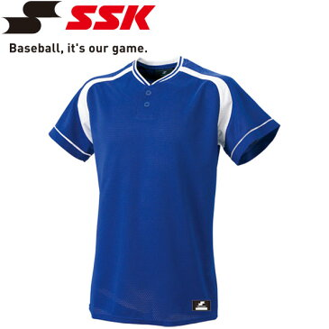 【ゆうパケット配送】エスエスケイ SSK 野球 2ボタンプレゲームシャツ メンズ・ユニセックス BW2200-6310