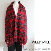 ツイードミルラムウールチェックラグひざ掛けストールファッション雑貨TWEEDMILL新作秋冬18AW通販200870-190