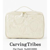 0420389518,CarvungTribes,FlatPouch,カービングトライブス,GRACECONTINENTAL,送料無料,牛革,レザー,21SS,新作,インスタ