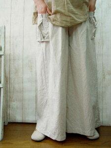 予約販売♪10日間デリバリー特別セール・・リネンマキシ・ワイドカーゴパンツM〜5L予約販売♪10...