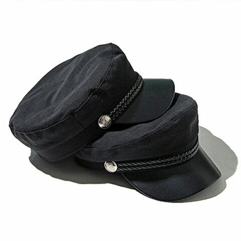 マリンキャップ キャスケット レディース 帽子 マリンハット 軍帽子 韓国 ファッション コスプレ ダンス 衣装 マリン シンプル 無地 コットン
