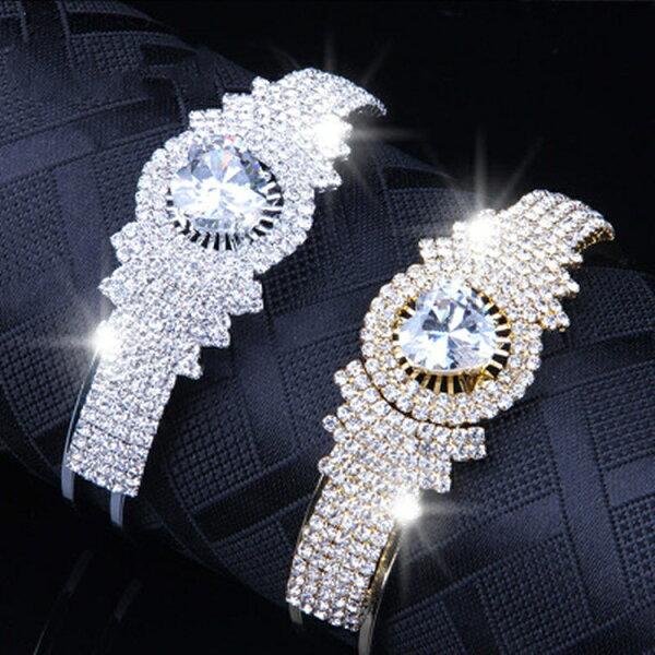 全商品5倍時計アクセサリーブレスレットレディースウォッチバングル女性ビジューキラキララメグリッタースパンコール韓国ファッションダ
