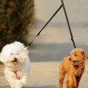 リーシュ ダブルリーシュ 多頭飼い リード 犬 中型犬 小型犬 フック 2匹一緒 からまない ハーネス 赤 散歩 黒 青 多頭 リード 強い 耐久性 丈夫 2頭飼い 多頭飼いリード
