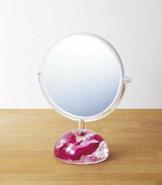 オイルフラワー エレガント卓上ミラー 大型 おしゃれ かわいい 北欧 拡大 両面 三面鏡 薔薇 ローズ きれい 大きい 大 スタンド アンティーク おすすめ 安い 化粧