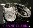 アンクラーク時計 クロノグラフ シルバー ウォッチ【LW-ANAM1012VD-02】【¥113400(税別)⇒9800(税込)】 レディース腕時計 【ANNE CLARK】【アンクラーク 腕時計】【天然ダイヤ】【ANNE CLARK 腕時計】【楽天スーパーセール】【お買い物マラソン】