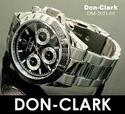 クラーク クロノグラフ ダイヤモンド ブラック シルバー スーパー マラソン