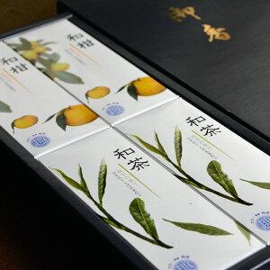 【人気のお線香の詰合せ】和柑・和茶アソート4箱入り/紙箱【柑橘】【緑茶】【消臭成分配合】