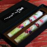 【越後花ろうそく】新潟生まれの手描き絵ろうそく「秋桜/」コスモス」12cm2本入り【和蝋燭】【進物】【お彼岸】【お盆】