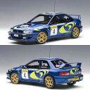オートアート 1/18 スバル インプレッサ WRC No.4 モンテカルロ優勝車 1997 (リアッティ/ポンス)