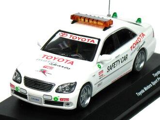 京瓷公司轉銷商 1/43 豐田皇冠 2006年豐田汽車體育帕斯卡白色