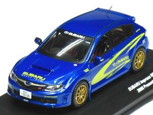 【絶版品】京商 1/43 スバル インプレッサ WRX STi ワークスカラー 2008 ブルー/イエロー