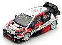 Spark 1/43 Toyota Yaris WRC No.10 2nd Rally Monte Carlo 2017 (J.M.Latvala/M.Antt...