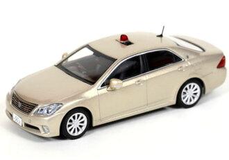 躺 1/43 豐田皇冠 (GRS202) 2011 年,靜岡縣員警高速度道路交通員警車輛