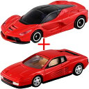 トミカ 8月新製品 フェラーリ 2台セット (【トミカ062】ラフェラーリ 通常版 +トミカプレミアム 06 フェラーリ テスタロッサ レッド)
