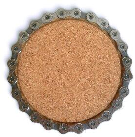 リソースリバイバルリサイクルコースター1個リサイクルチェーンドリンク飲み物再利用再生自転車部品パーツ竹ResourceRevivalチェーンリユーズリソースリバイバル