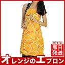 テイスティー オレンジエプロン みかん 柑橘類 エプロン 保育士 おしゃれ 大きい かわいい ワンピース 前掛け ロング ポケット付き カフェエプロン おしゃれ かわいい