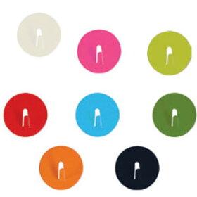 ThreebyThreeSeattleSpot-onミニマグネットフック4個セット【マグネットフック収納キッチンキー鍵カギアクセサリーインテリアカラフルスリー・バイ・スリー・シアトルデザイン】