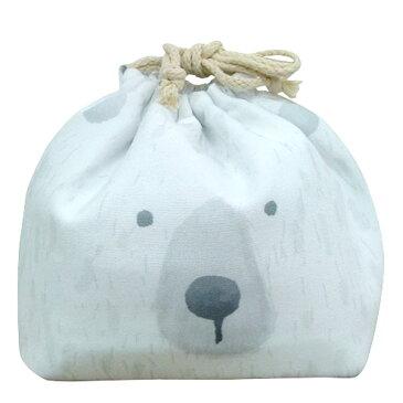お弁当袋 おかおきんちゃく シロクマ 保冷ランチ巾着 KT-KAO-SHIRO 4511546083595 クリスマス おしゃれ かわいい