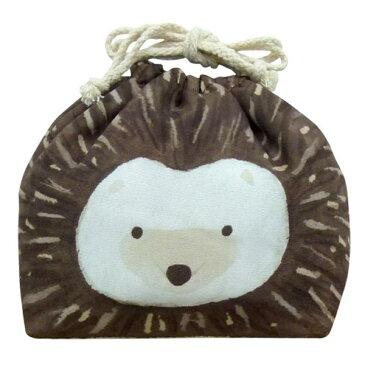 お弁当袋 おかおきんちゃく ハリネズミ 保冷ランチ巾着 KT-KAO-HARI 4511546083618 クリスマス おしゃれ かわいい