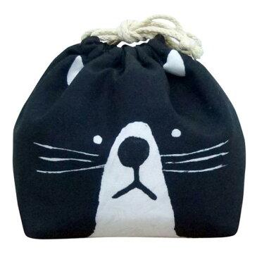 お弁当袋 おかおきんちゃく ネコ 保冷ランチ巾着 KT-KAO-NEKO 4511546083625 クリスマス おしゃれ かわいい