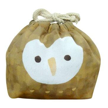 お弁当袋 おかおきんちゃく フクロウ 保冷ランチ巾着 KT-KAO-FUKUO 4511546083632 クリスマス おしゃれ かわいい