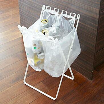 山崎実業 YAMAZAKI ゴミ箱 ダストボックス ゴミ袋&レジ袋スタンド タワー tower ホワイト 4903208079082 クリスマス おしゃれ かわいい