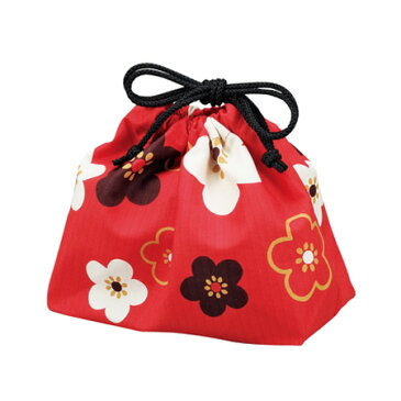 巾着袋 朱 華文様梅 4964026537475 クリスマス おしゃれ かわいい