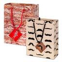 【メール便対応可】アクータメンツバッグ ひげ 髭 ベーコン 贈り物 包装 ラッピング 紙袋 袋 ハロウィン