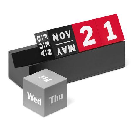 【エントリーで5倍】MoMAキューブカレンダーレッド万年カレンダーモマ98889おしゃれかわいい万年カレンダーデザインオブジェCUBESPERPETUALCALENDARREDモマニューヨーク近代美術館
