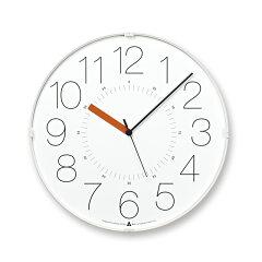 AWA CLOCK CARA ホワイト オレンジ 掛け時計 カラ アワクロック レムノス Lemnos ウォールクロ...