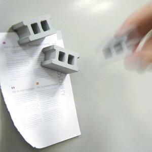 コンクリートブロック マグネット (4個セット) 【マグネット セメント ブロック ステーショナリ...