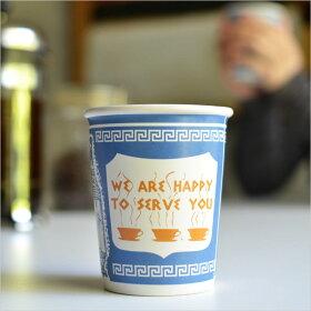 ニューヨークコーヒーカップWEAREHAPPYTOSERVEYOU【マグカップロハスMoMAニューヨーク近代美術館紙コップティーコーヒー】