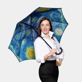 MoMAスターリーナイトアンブレラ(長傘)【ゴッホかさ傘TheStarryNight星月夜スターリー・ナイト雨傘ニューヨーク近代美術館モマ梅雨】