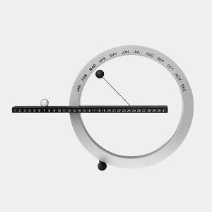 パーペチュアルカレンダー ブラック シルバー スモール カレンダー ホワイト