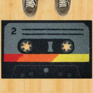 ★10%OFFクーポン配布中★ 27日(金)14:59まで!カセットテープ 2 ドアマット 【カセット テー...