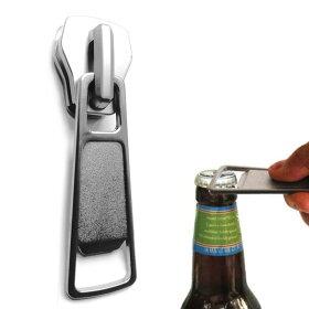 チャックボトルオープナー栓抜き磁石チャック型マグネットキッチン雑貨バーパーティービールファスナーボトルユニークzipitopenbottleopenerジッパー